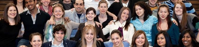 JD Students smiling at camera