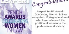 Congratulations to alumni who won Lexpert Zenith Award
