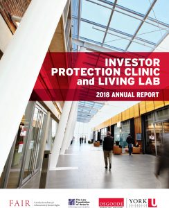 Investor Protection Clinic and Living Lab 2018 Annual Report