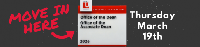 Move in Here - Office of the Dean - Thursday March 19th