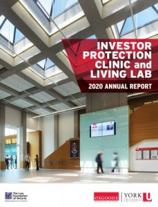 Investor Protection Clinc 2020 Annual Report