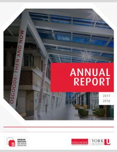 Winkler Institute for Dispute Resolution Annual Report 2017-2018 Cover