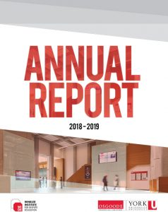 Winkler Institute for Dispute Resolution Annual Report 2018-2019 Cover