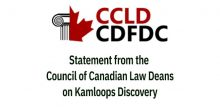 Canadian law deans statement on kamploops discovery