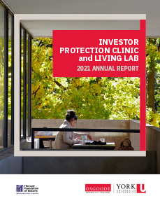 Investor Protection Clinic and Living Lab 2021 Annual Report